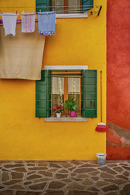 Photograph - Rectangle Iterations Broom And Laundry Burano_dsc5134_03042017 by Greg Kluempers