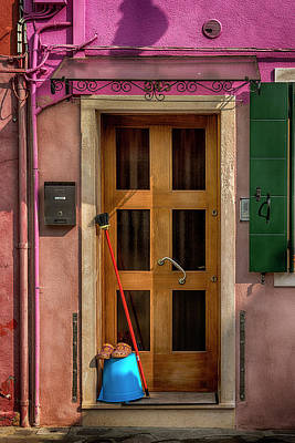 Photograph - Rectangle Iterations Door Broom And Bucket_dsc5127_03042017 by Greg Kluempers