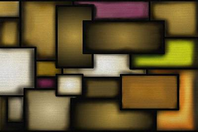 Abstract Art Painting - Rectangles by  D A Diggs