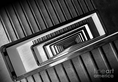Rectangular Spiral Staircase Art Print