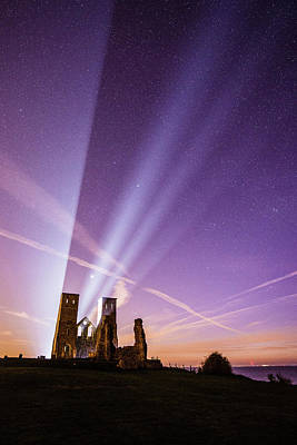 Photograph - Reculver At Night by Kelvin Trundle