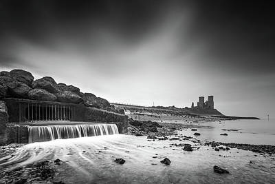 Reculver Photograph - Reculver Black And White by Ian Hufton