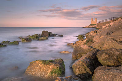 Landscape Photograph - Reculver Towers Sunset by Ian Hufton