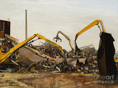 Conveyor Belt Painting - Recycle 6 Dueling Grapples by Nancy Albrecht