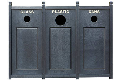 Photograph - Recycle Bins For Glass Plastic Cans by David Gn