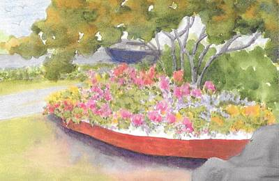 Painting - Recycled Boat  by Roseann Meserve