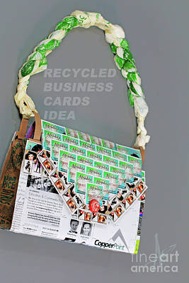 Photograph - Recycled Business Cards by Afrodita Ellerman