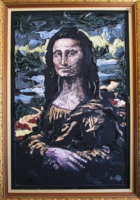 Mona Lisa Mixed Media - Recycled Mona by Alicia  LaRue