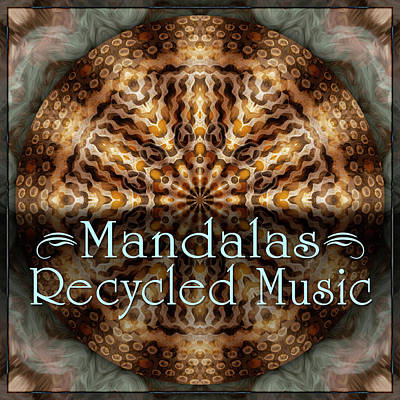 Digital Art - Recycled Music Mandalas by Becky Titus