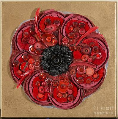 Painting - Recycled Poppy by Sheila McPhee