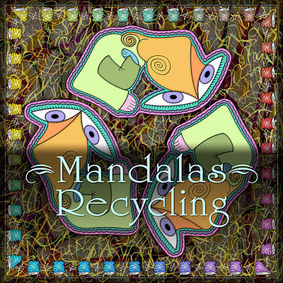 Digital Art - Recycling Mandalas by Becky Titus
