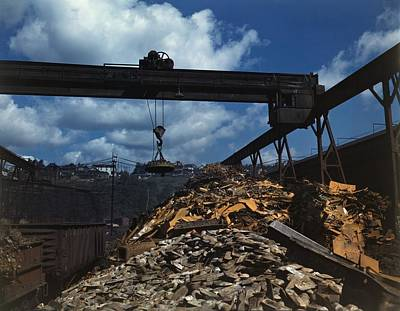 Mechanization Photograph - Recycling Scrap Steel During World War by Everett