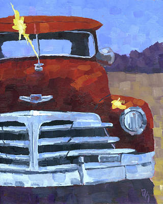 Painting - Red 1948 Chevy  by David King