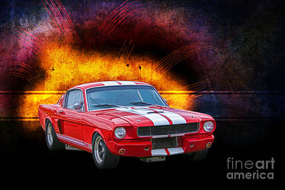 Photograph - Red 1966 Mustang Fastback by Stuart Row