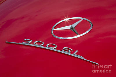 Photograph - Red 300 Sl by Dennis Hedberg