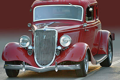 Photograph - Red 34 Coupe by Bill Dutting
