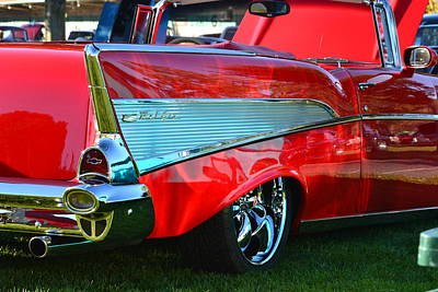 Photograph - Red 57 Chevy by Dean Ferreira