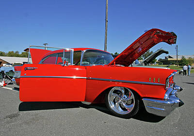 Photograph - Red 57 Chevy by Joseph C Hinson Photography