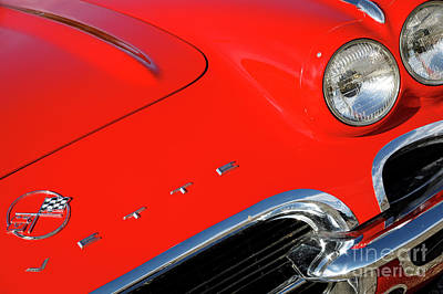 Photograph - Red '62 Vette by Dennis Hedberg