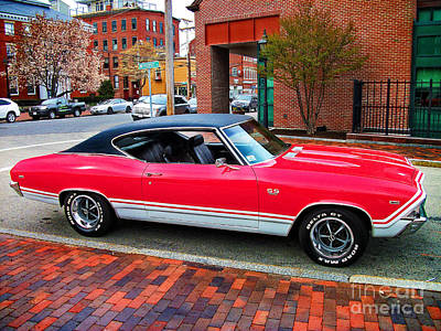 Photograph - Red 68-69 Chevelle Ss 396 by Lita Kelley