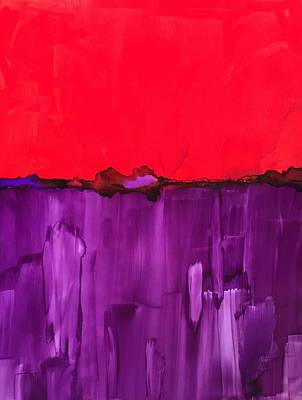 Painting - Red Above Purple by Peggy Stokes