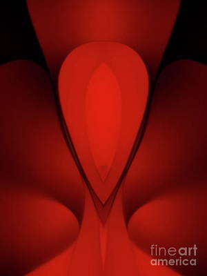 Photograph - Red Abstract 3 by Trena Mara