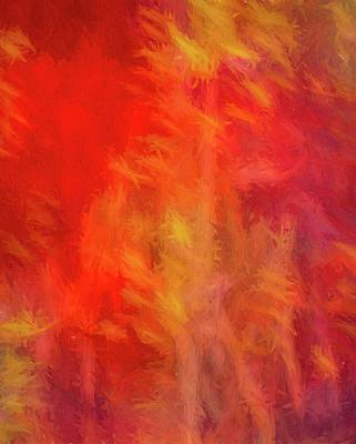 Digital Art - Red Abstract by Steve DaPonte