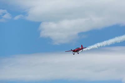 Vintage Chevrolet - Red Aerobatic Airplane 7 by John Brueske