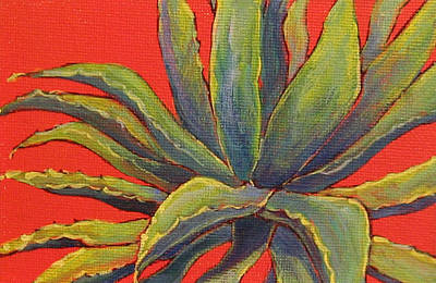 Red Agave Art Print