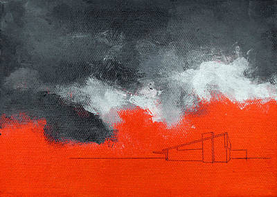 Painting - Red Alexander Black Sky by Stan  Magnan