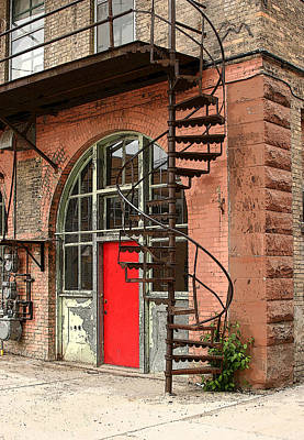 Photograph - Red Alley Door by Steve Augustin