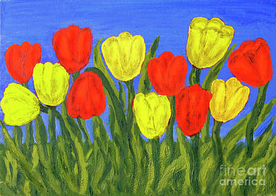 Painting - Red An Yellow Tulips by Irina Afonskaya