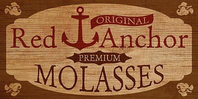 Digital Art - Red Anchor Molasses by WB Johnston