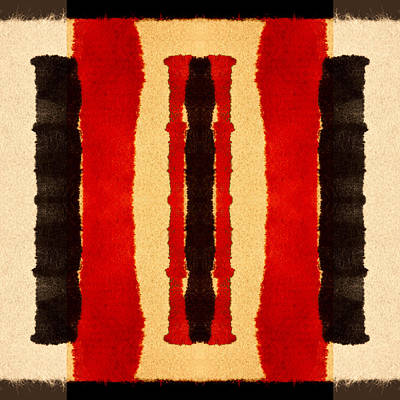 Bold Digital Art - Red And Black Panel Number 2 by Carol Leigh