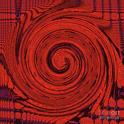 Digital Art - Red And Black Swirl - Modern/contemporary Painting by Merton Allen