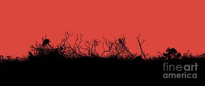 Digital Art - Red And Black - Twig Abstract by Liz Alderdice