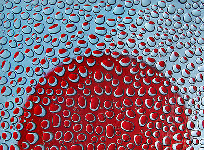 Red  And Blue Drops Art Print by Vladimir Kholostykh