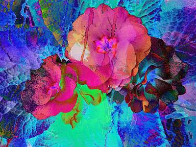 Photograph - Red And Blue Floral Abstract by Dorothy Berry-Lound
