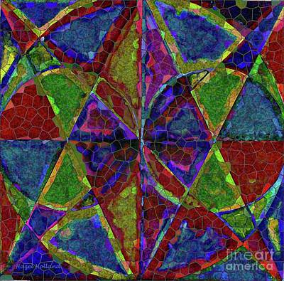 Painting - Kaleidoscope Design In Red And Blue by Hazel Holland