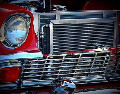 Photograph - Red And Chrome by Kimberly-Ann Talbert