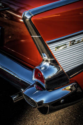 Photograph - Red And Chrome by Mark David Gerson