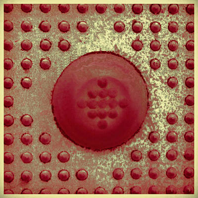 Photograph - Red And Gold Dots In Cube by Tony Grider