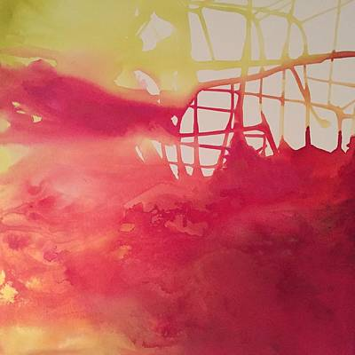 Painting - Red And Gold by Karen Ahuja