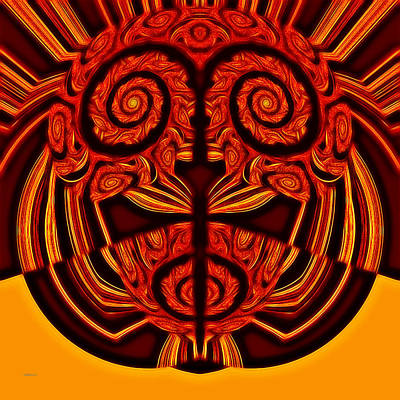 Photograph - Red And Gold Mask by John M Bailey