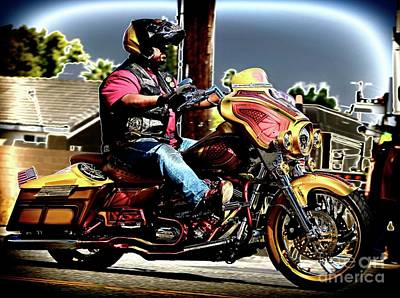 Photograph - Red And Gold Rider by Gus McCrea