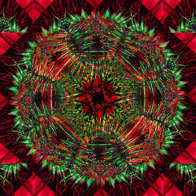 Digital Art - Red And Green by Ann Bridges