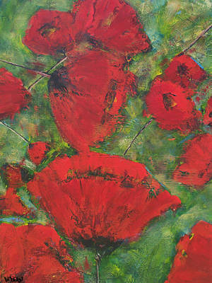 Painting - Red And Green by Diane Dean