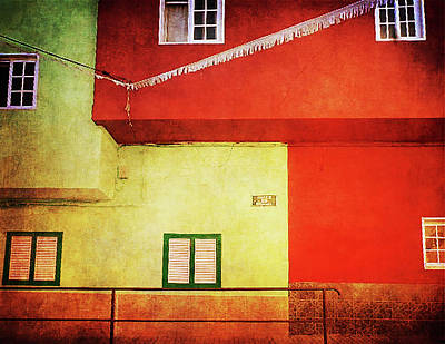 Photograph - Red And Green Houses Alcala, Tenerife by Anne Kotan