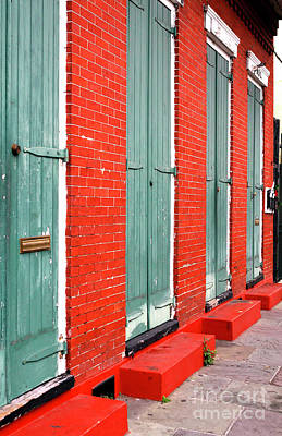 Red And Green In New Orleans Art Print