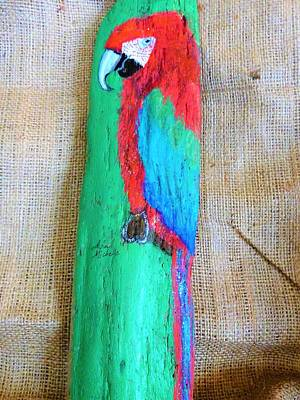 Mixed Media - Red And Green Macaw  by Ann Michelle Swadener